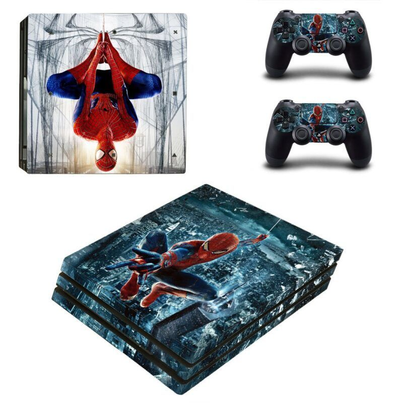 The Amazing Spider-Man Upside Down Web Swinging PS4 Pro Skin