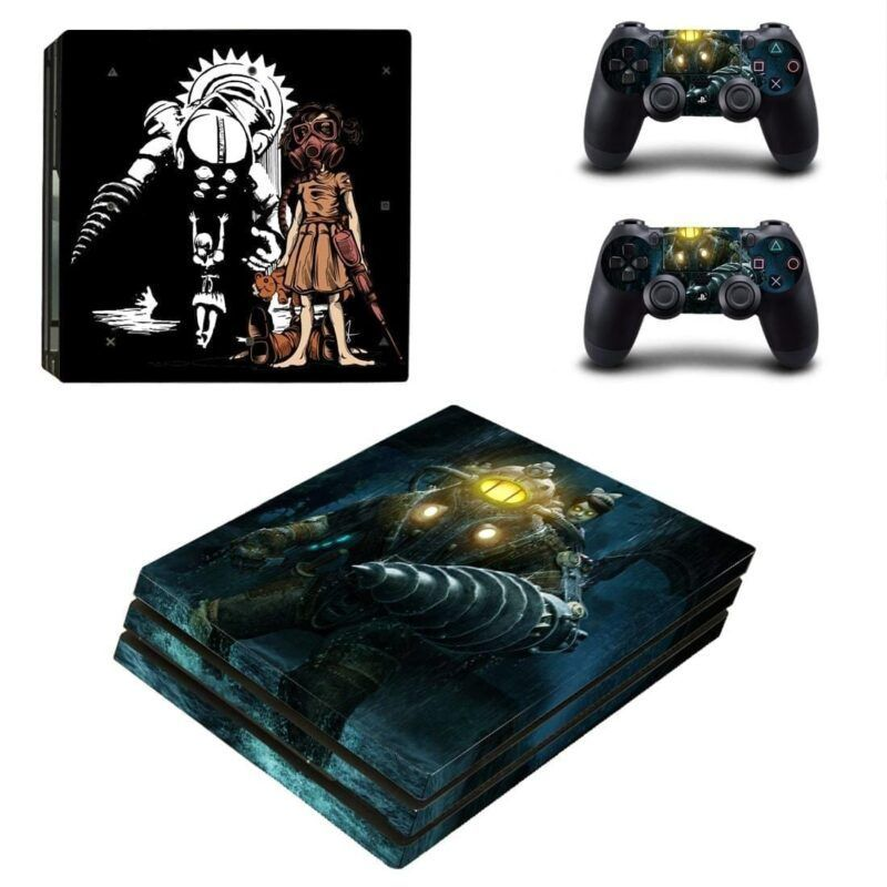 BioShock Video Game Big Daddy-Little Sister PS4 Pro Skin