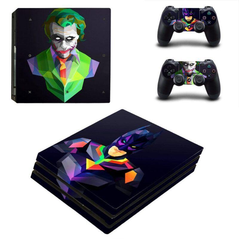 Batman And The Joker Geometric Style Art PS4 Pro Skin