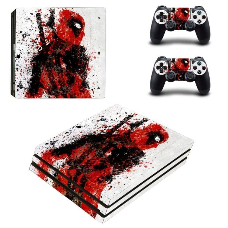 Anti Hero Deadpool Portrait Fan Art Dope PS4 Pro Skin