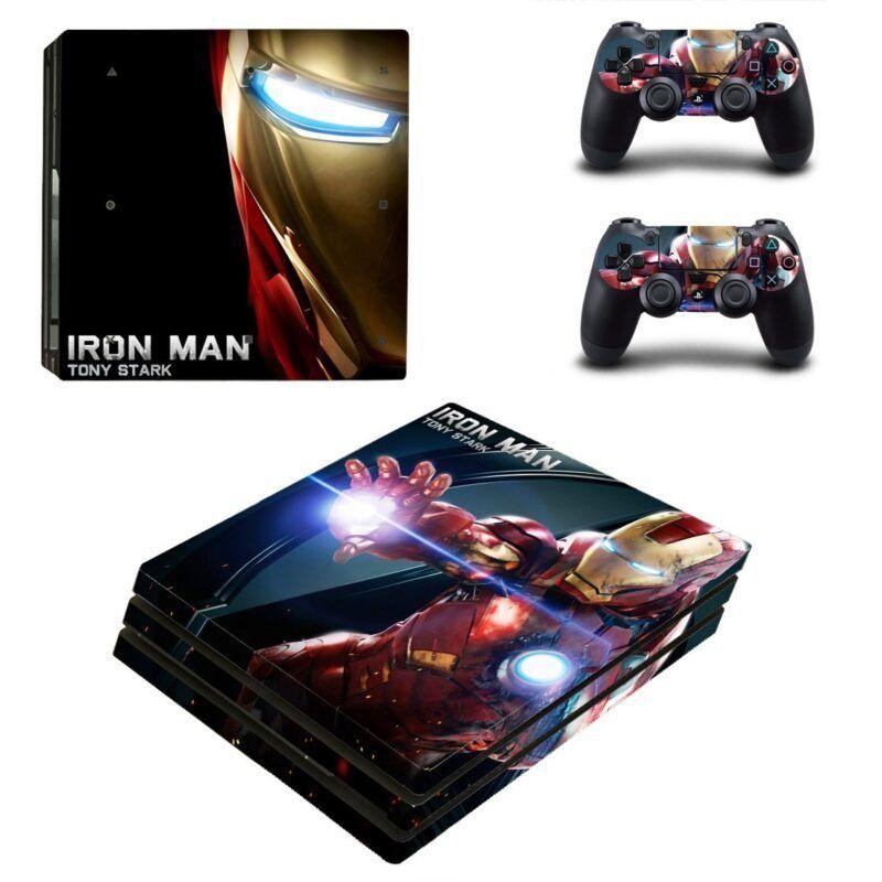 Iron Man Superhero Fire Blaster Dope PS4 Pro Skin
