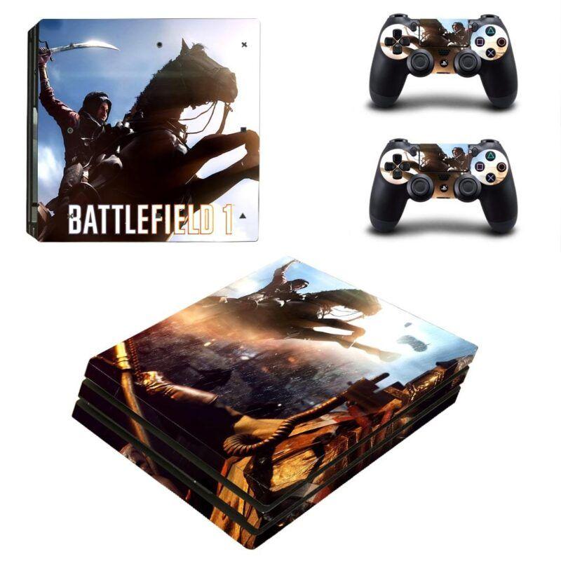 Battlefield 1 Horse Rider Fighting Vibrant PS4 Pro Skin