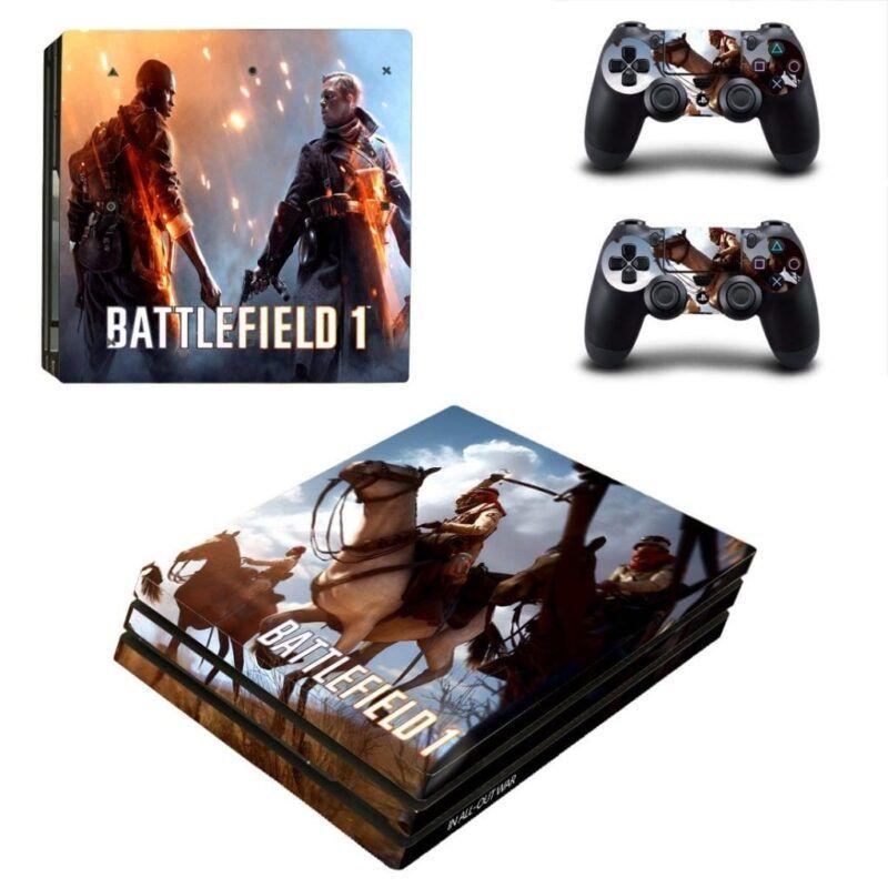 Battlefield 1 Cool Horse Rider Battling Dope PS4 Pro Skin