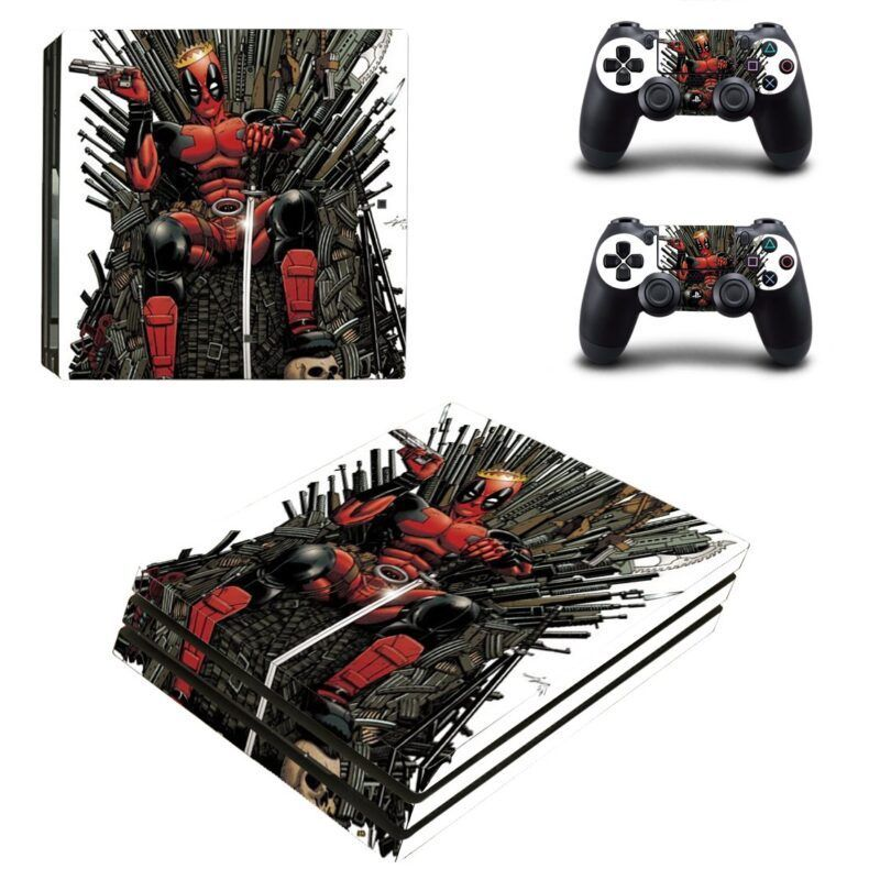 Marvel Cool Weapon Deadpool Sitting Throne PS4 Pro Skin