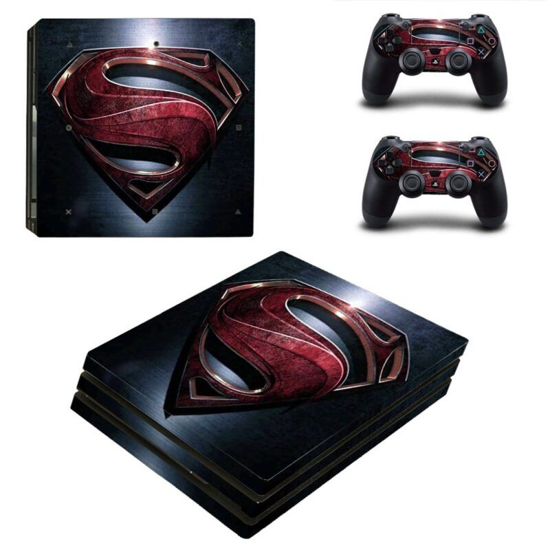 DC Comics Superman Man Of Steel Logo Navy Blue PS4 Pro Skin