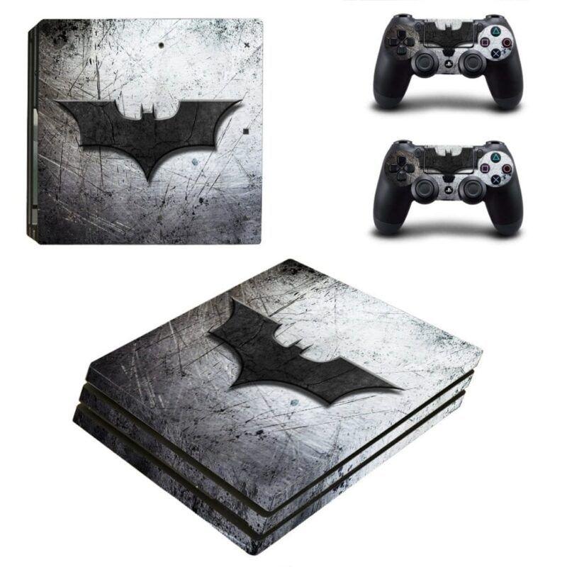 DC Comics Batman Black Bat Hero Symbol Gray PS4 Pro Skin