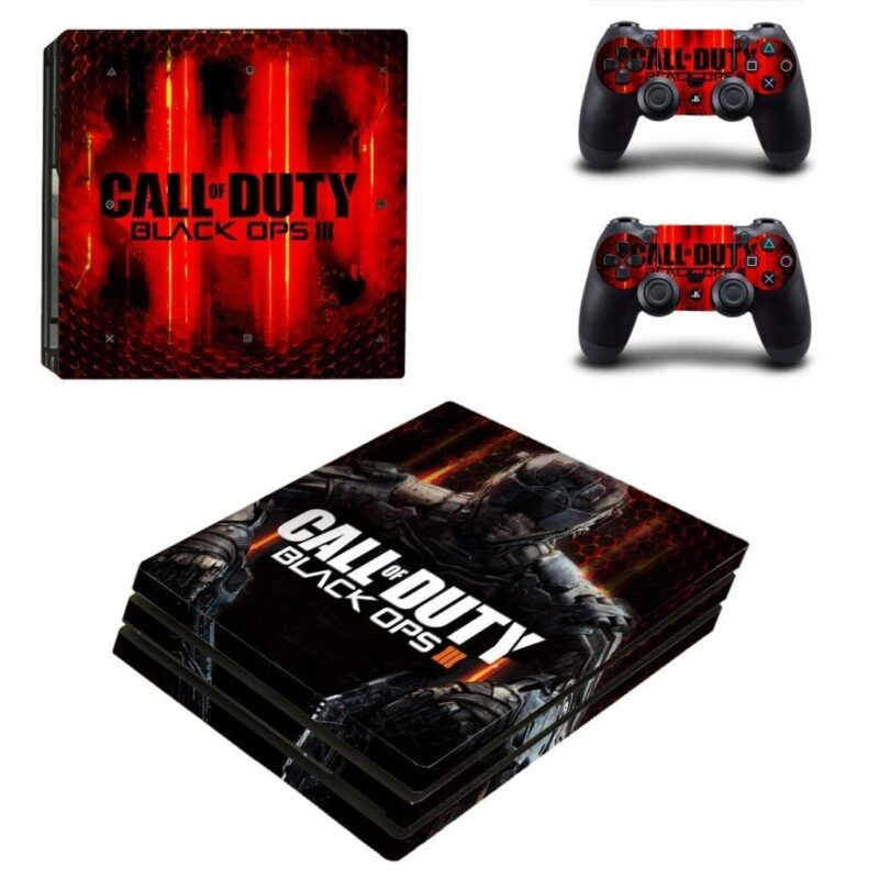 Call of Duty Black Ops III Cyber Soldier Red PS4 Pro Skin