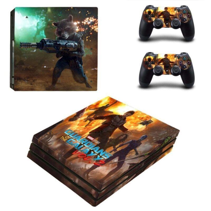 Guardian of the Galaxy Rocket Battle PS4 Pro Skin