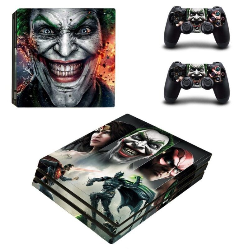 DC Joker And The Justice League Superheroes PS4 Pro Skin