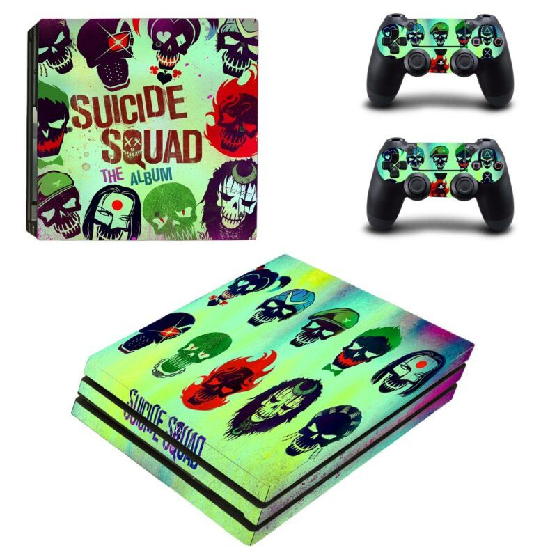 Suicide Squad Team Minimalist Iconic Cool PS4 Pro Skin