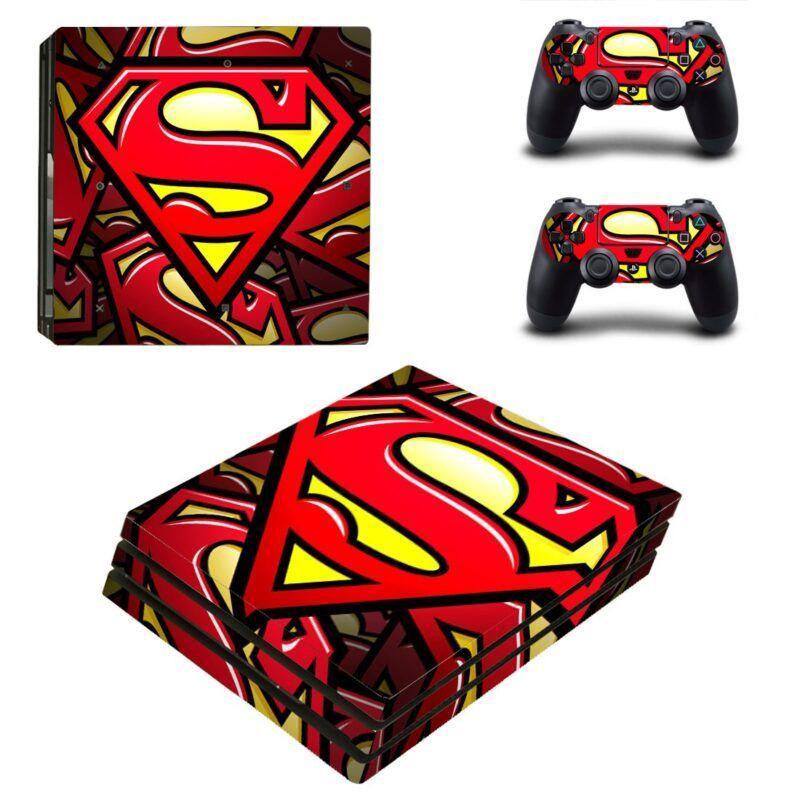 Superman DC Superhero Vibrant Symbol PS4 Pro Skin