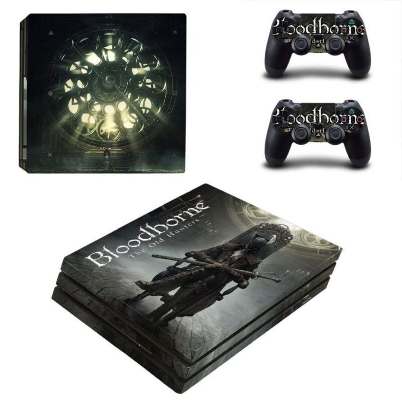 Bloodborne The Old Hunters Dark Mysterious PS4 Pro Skin