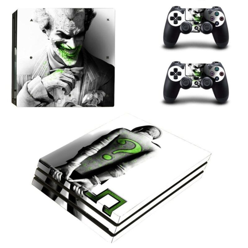 DC Joker With Green Stains And The Riddler Gray PS4 Pro Skin