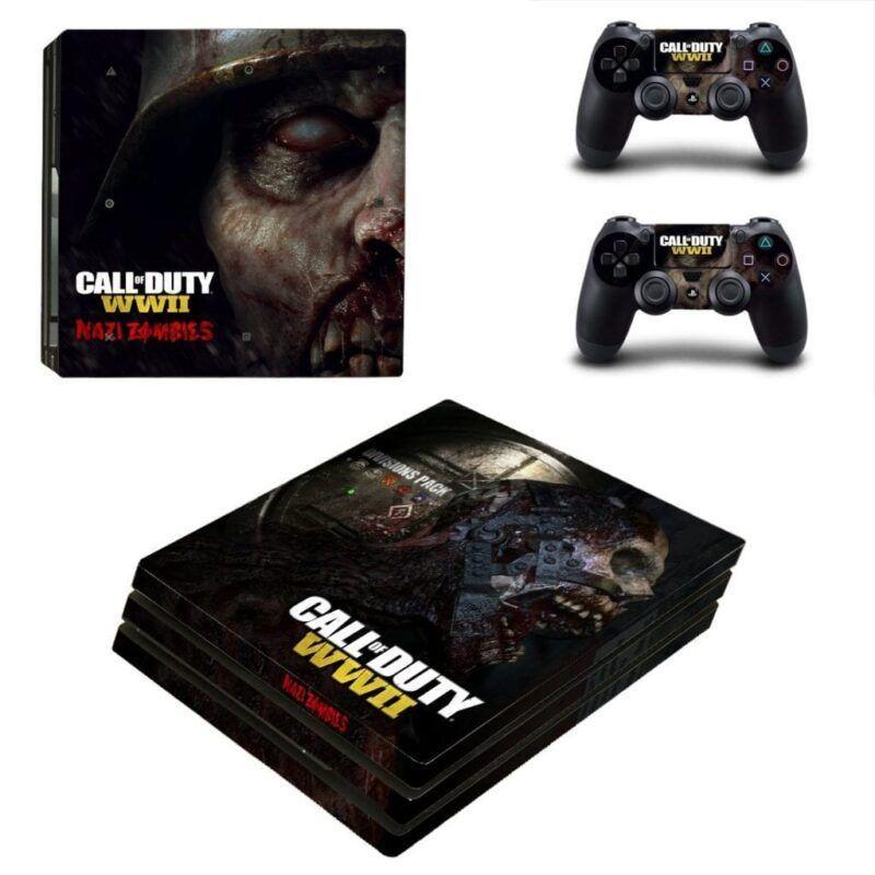 Call Of Duty World War II Nazi Zombies Black PS4 Pro Skin
