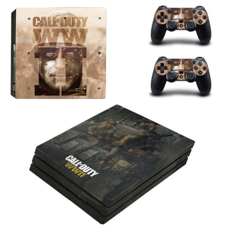 Call Of Duty WW2 Soldier Face Portrait Beige PS4 Pro Skin