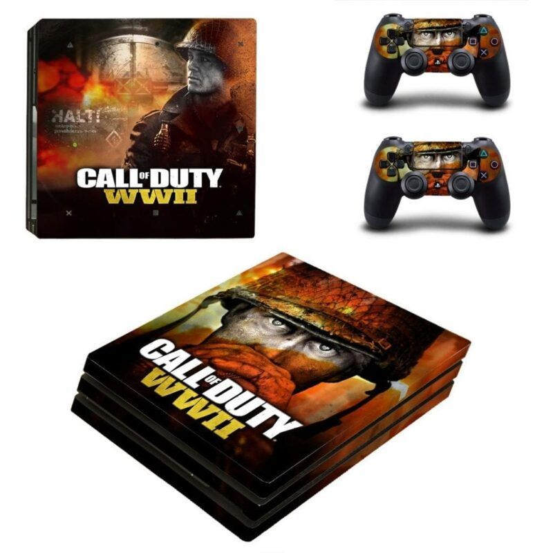 Call Of Duty WW2 Serious Face Portrait Orange PS4 Pro Skin