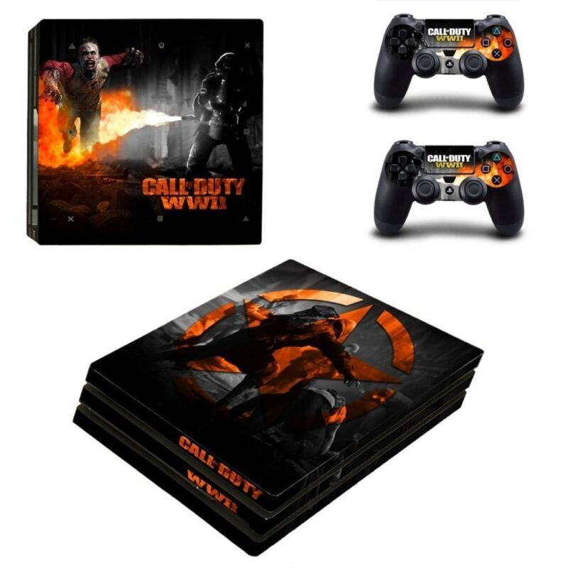 Call Of Duty WWII Scary Nazi Zombies Black PS4 Pro Skin