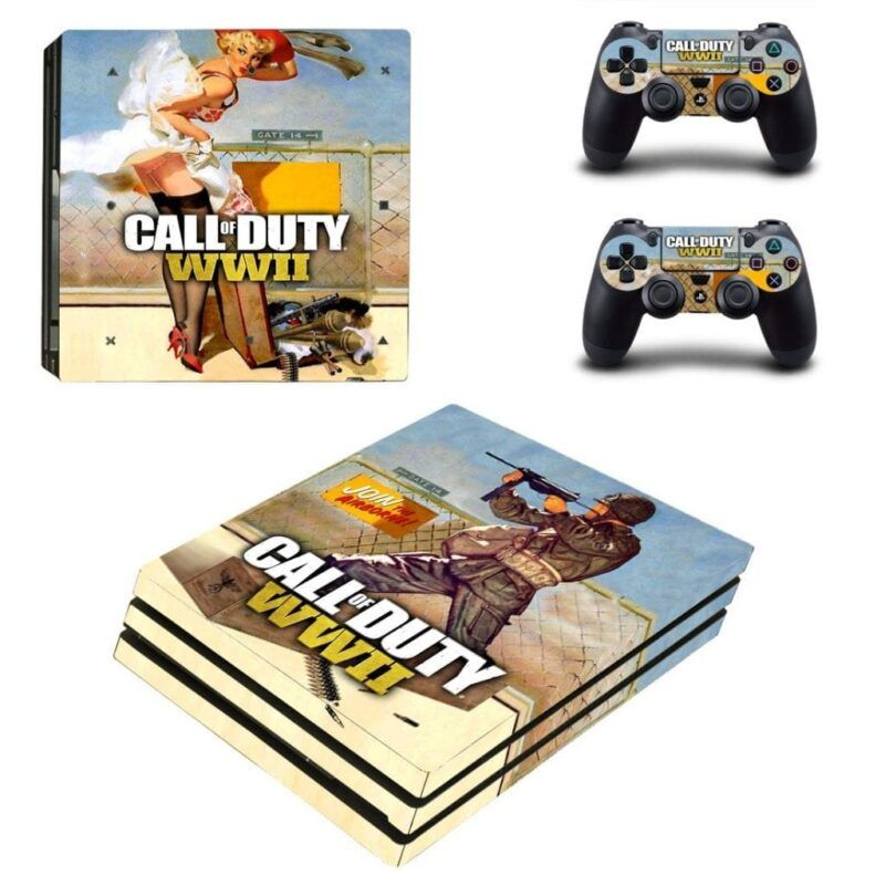 Call Of Duty WWII Armed Pin-up Girl Model PS4 Pro Skin