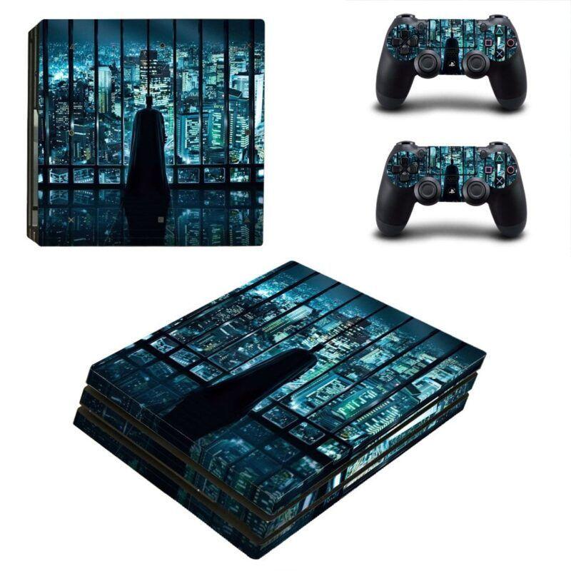 Batman Watching Gotham City Design PS4 Pro Skin