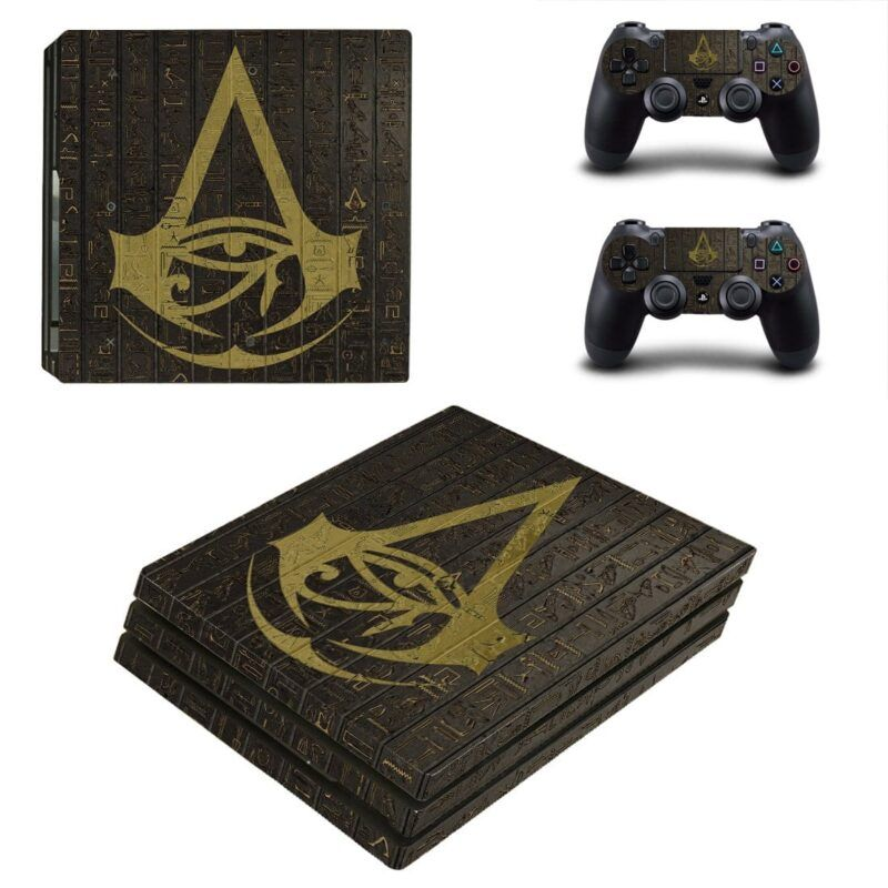 Assassins Creed Origins Hieroglyphs Brown PS4 Pro Skin