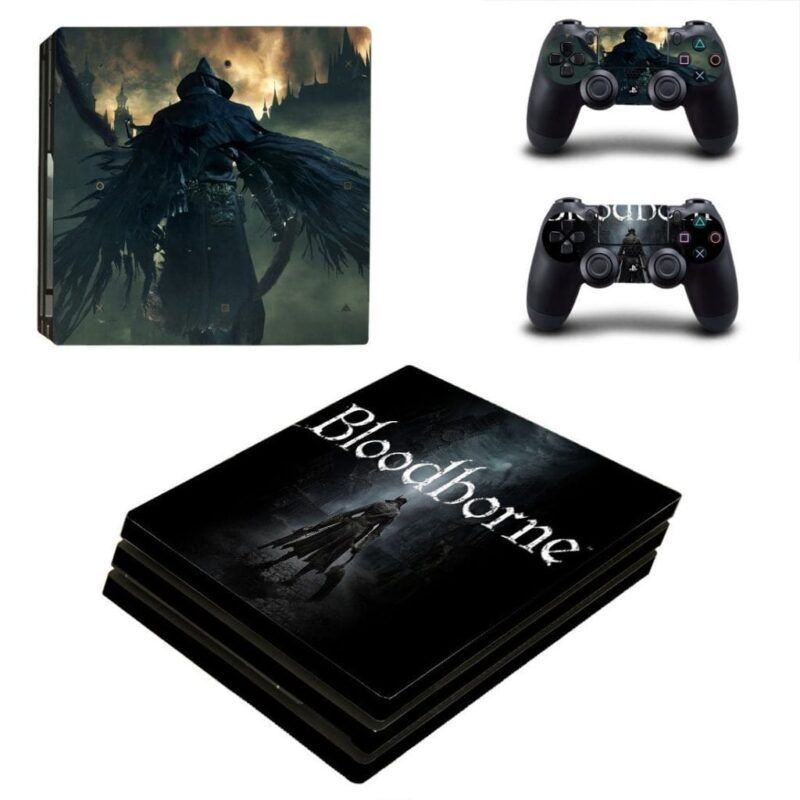 Bloodborne Action Video Game Darkness Dope PS4 Pro Skin