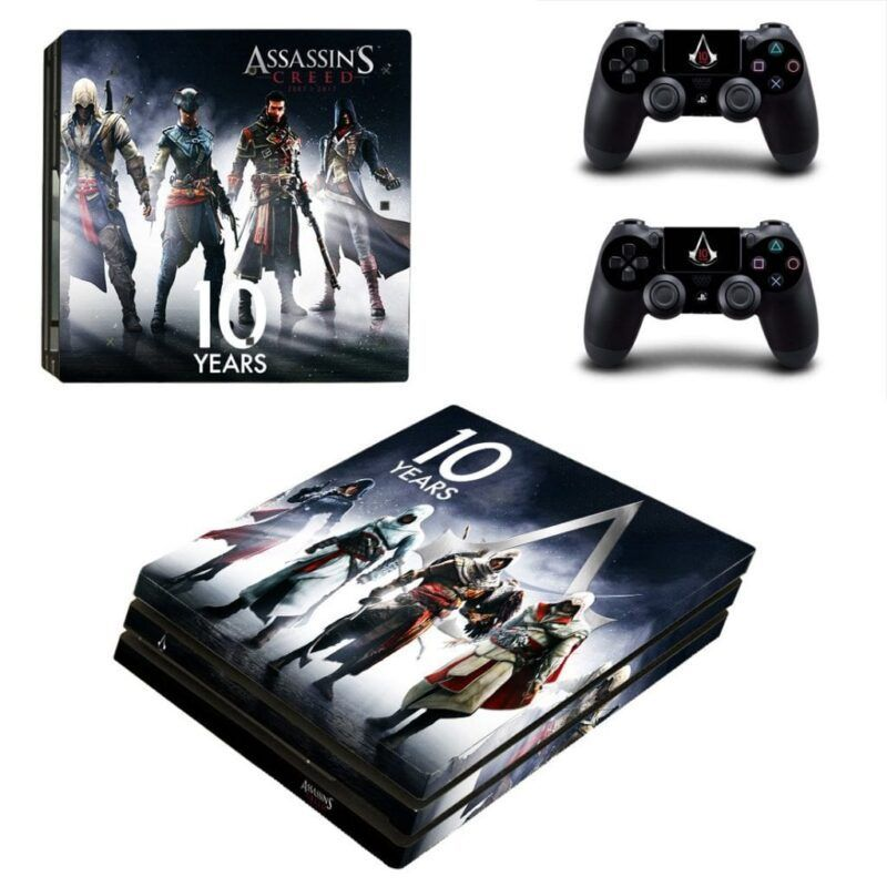 Assassin's Creed Year 10 Main Characters Dope PS4 Pro Skin