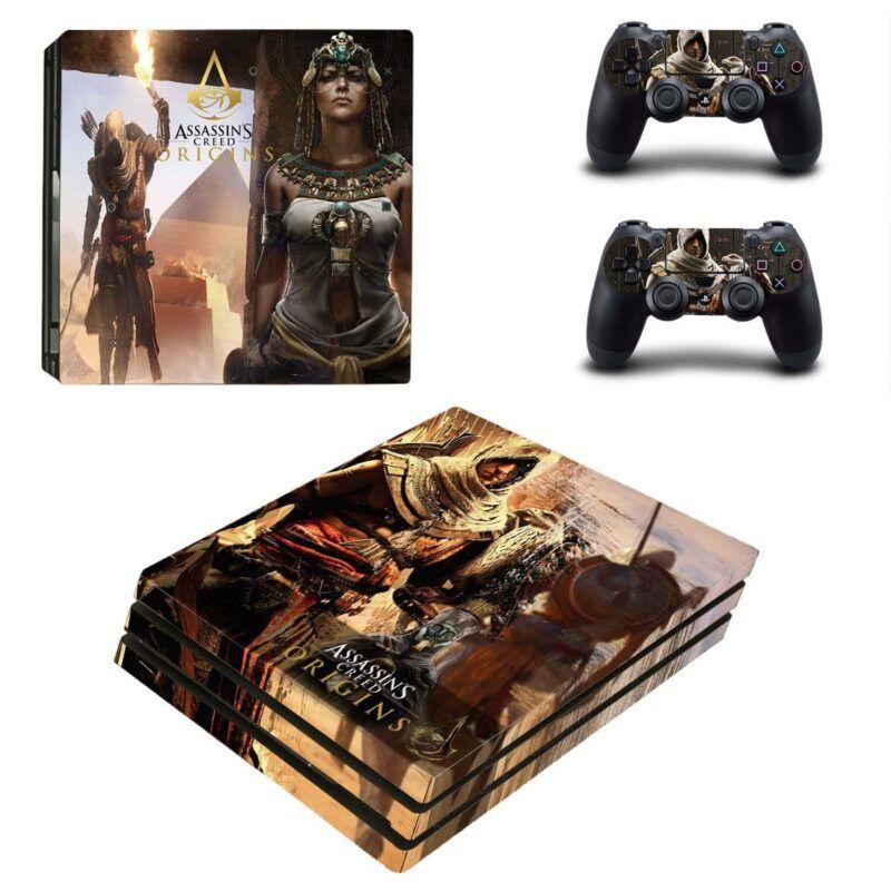 Assassins Creed Origins Bayek & Cleopatra PS4 Pro Skin