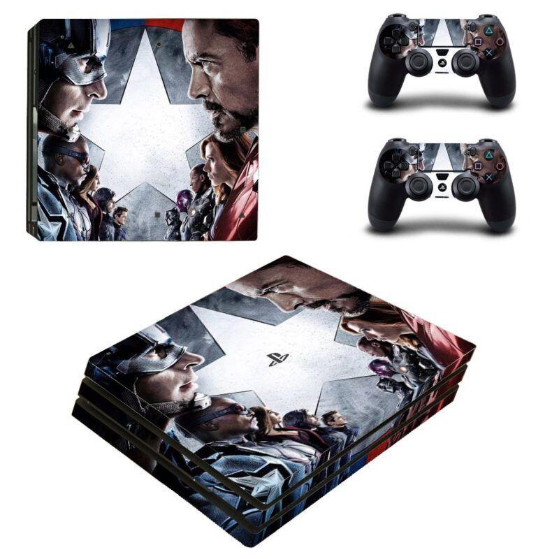 Marvel Captain America Civil War Characters PS4 Pro Skin