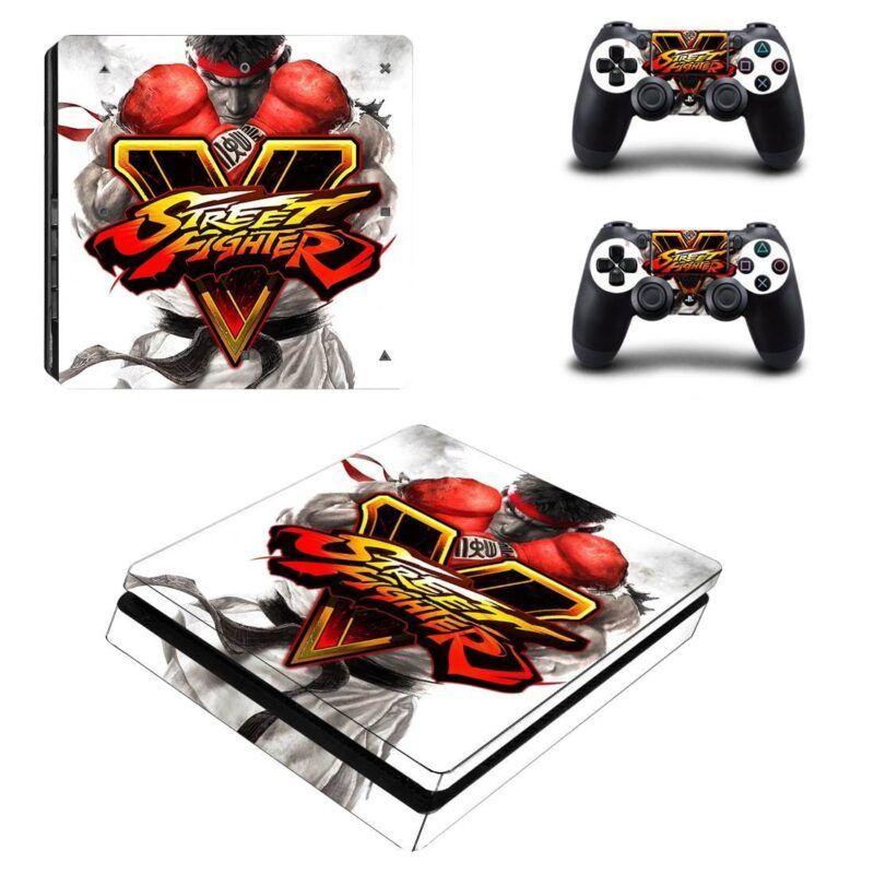 Street Fighter Ryu Kung-Fu Guy Badass Dope PS4 Slim Skin