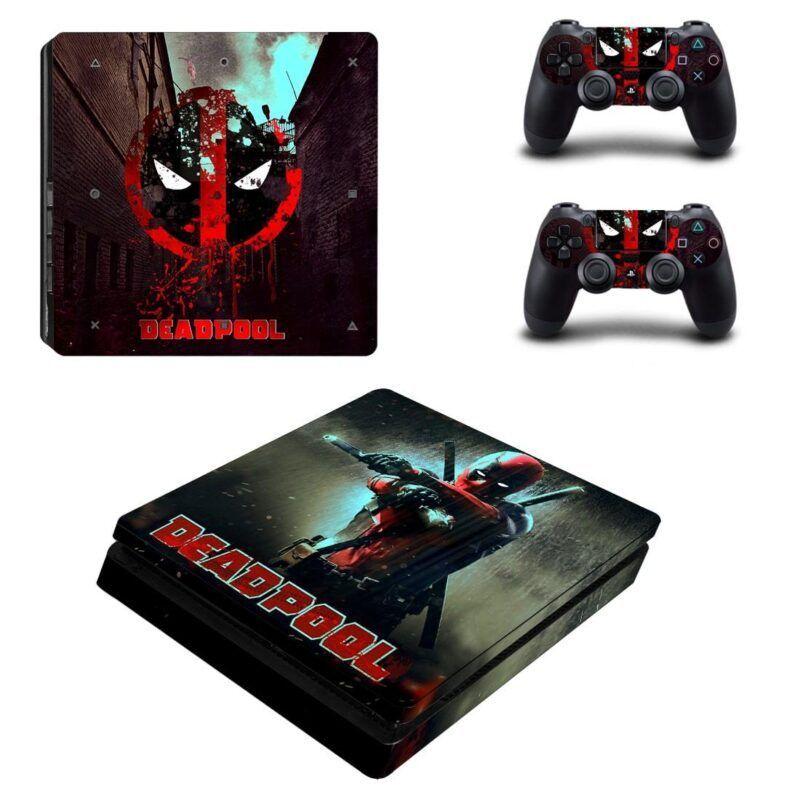 Deadpool Back Anti Hero Dope Fighting PS4 Slim Skin