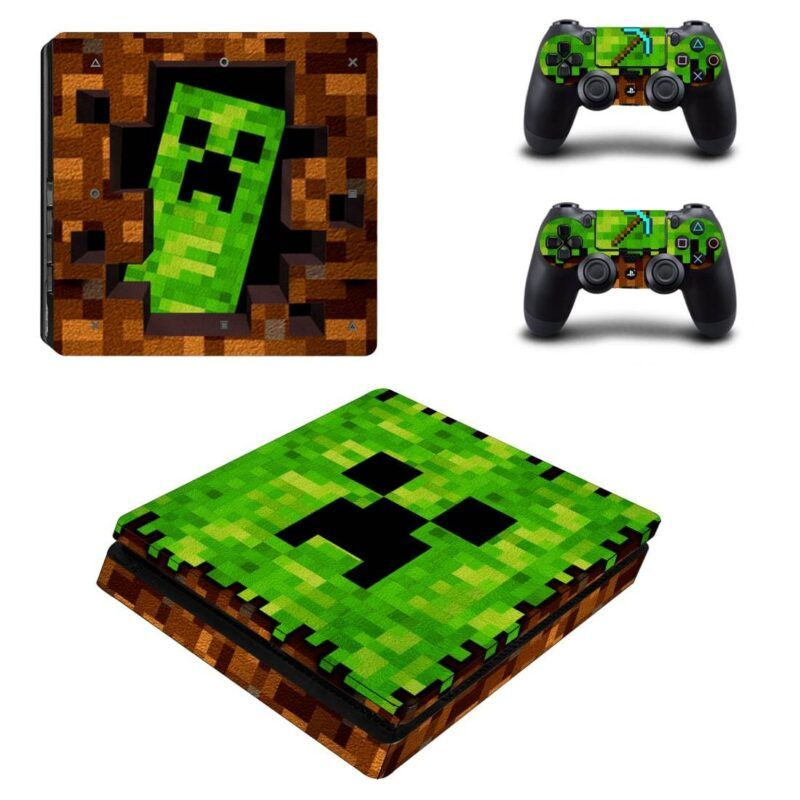 Minecraft Video Game Funny Cool Design for PS4 Slim Skin