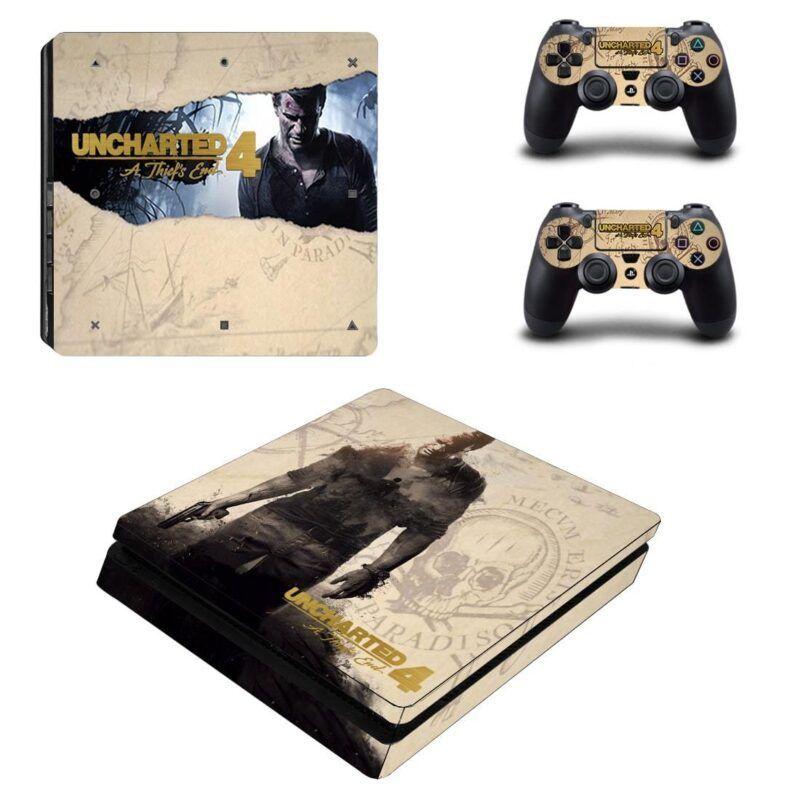Uncharted 4 Nathan Drake Treasure Hunter Dope PS4 Slim Skin