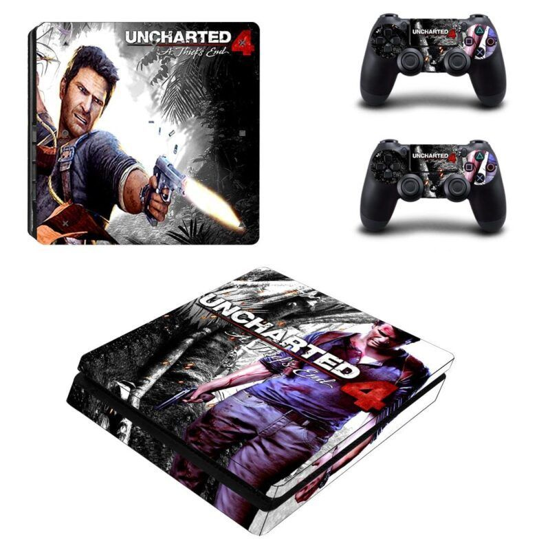 Uncharted 4 A Thief End Nathan Drake Cool PS4 Slim Skin