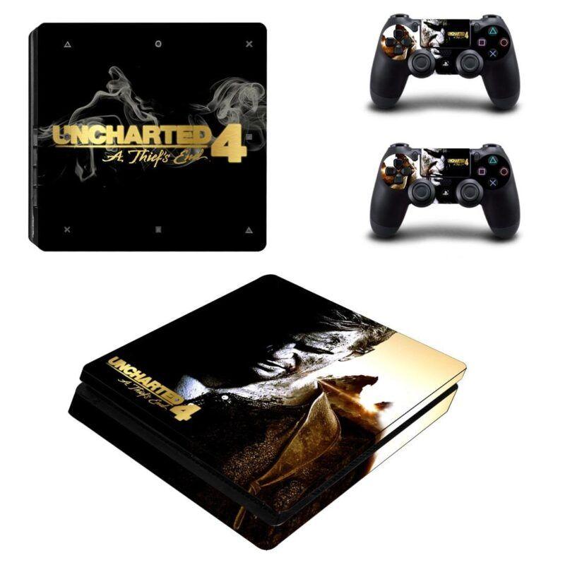 Uncharted 4 Nathan Drake Elegant Cool Poster PS4 Slim Skin