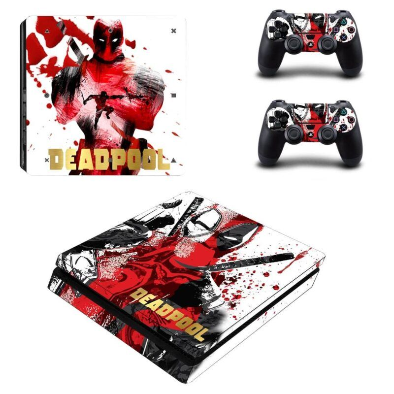 Deadpool Weapon Martial Art Dope Design PS4 Slim Skin