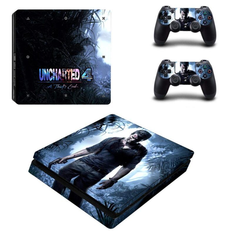Uncharted 4 Nathan Drake Impressive Design PS4 Slim Skin