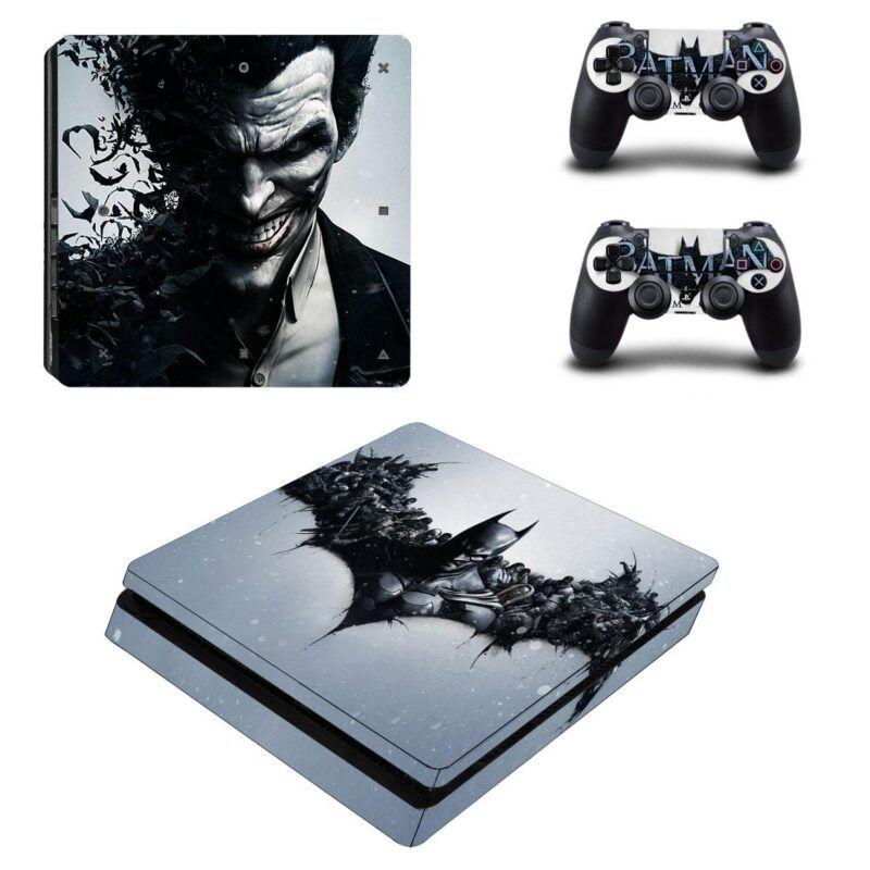 Batman And The Joker Black Theme Cool PS4 Slim Skin