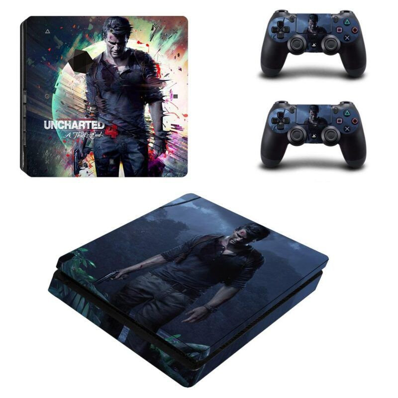 Uncharted 4 A Thief's End Nathan Drake Cool PS4 Slim Skin