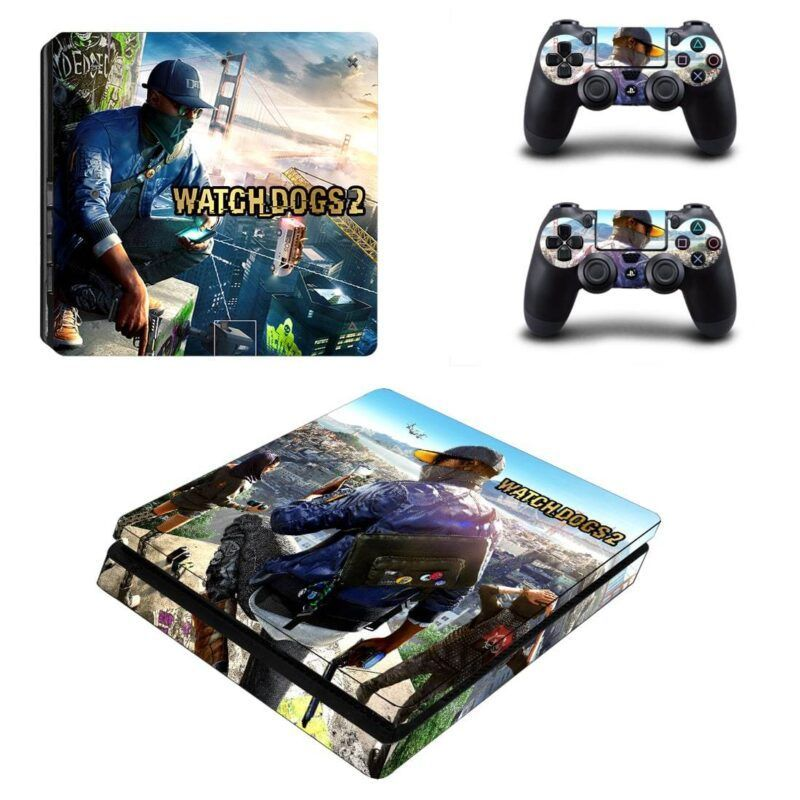 Watch Dogs 2 Action Adventure Game Cool Design PS4 Slim Skin