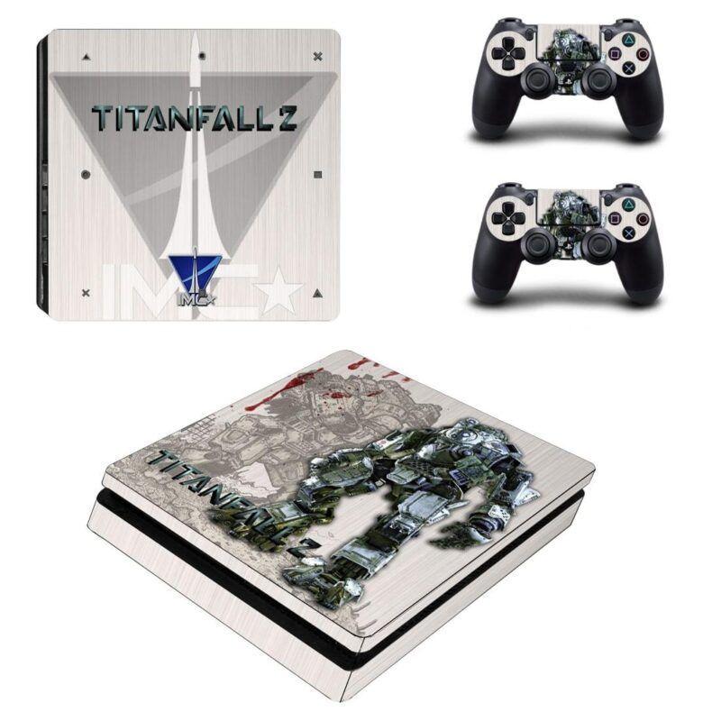 Titanfall 2 Shooter Game Amazing Poster Design PS4 Slim Skin