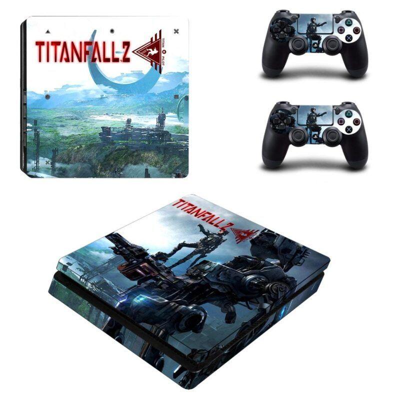 Titanfall 2 Action Game Eyecatching Scenario PS4 Slim Skin