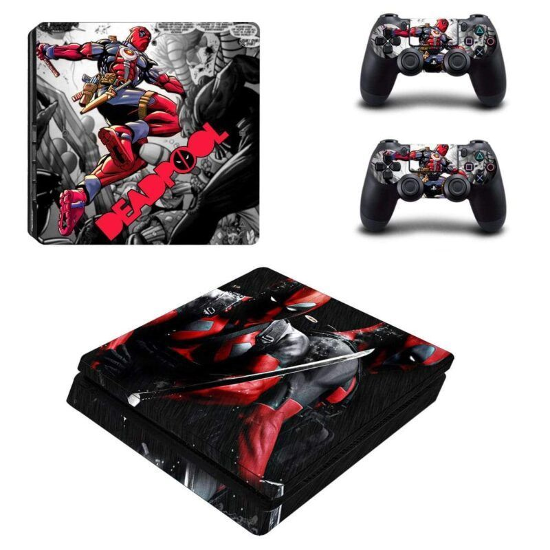 Deadpool Anti Hero Full Load Weapon PS4 Slim Skin
