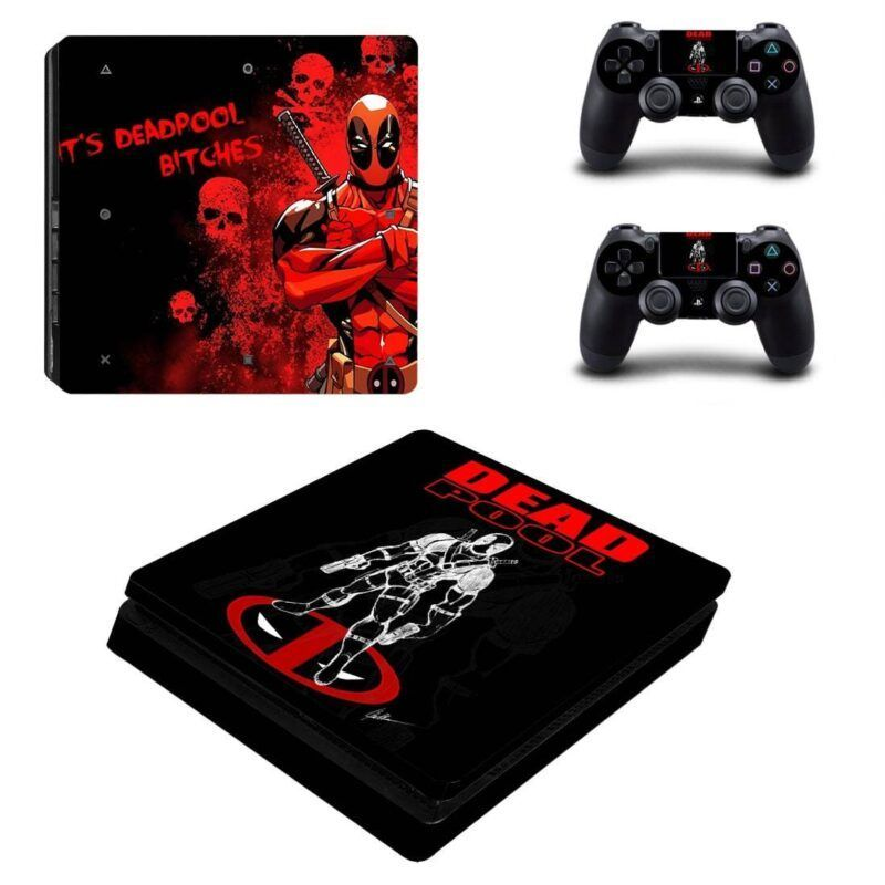 Deadpool Anti Hero Standing Vibrant PS4 Slim Skin