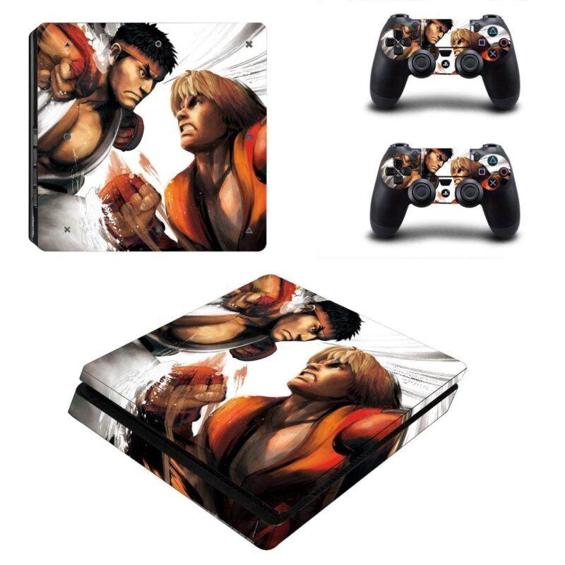 Street Fighter Fighting Game Ryu vs Ken Dope PS4 Slim Skin