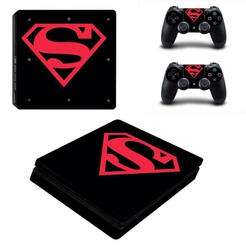 DC Superman Modern Logo Design Vibrant PS4 Slim Skin