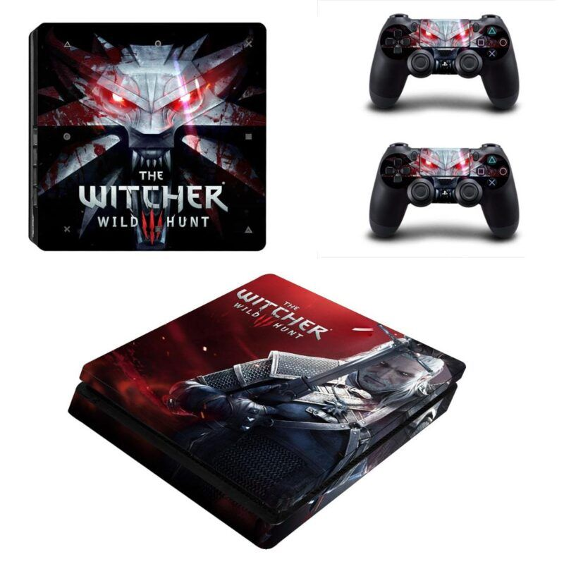 The Witcher 3 Wild Hunt Action Video Game Dope PS4 Slim Skin
