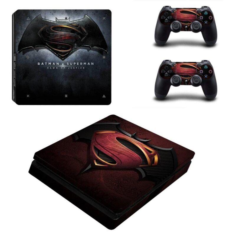 Batman Vs Superman Dawn Of Justice Logo PS4 Slim Skin