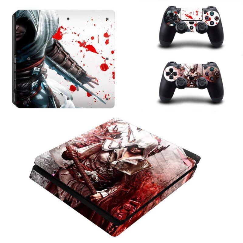 Assassin's Creed Bloody Ezio Auditore Vibrant PS4 Slim Skin