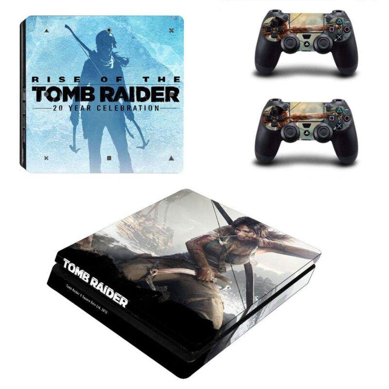 Rise of the Tomb Raider Impressive Poster PS4 Slim Skin