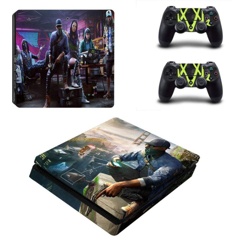 Watch Dogs Aiden Pearce The Vigilante PS4 Slim Decal Skin